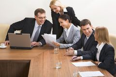 Break at business meeting Royalty Free Stock Image