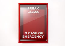 Break In Case Of Emergency Red Box Stock Photos