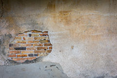 Break on the cement wall Stock Photography