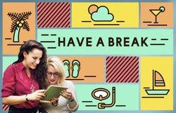 Break Cessation Leisure Pause Recess Relaxation Concept stock image