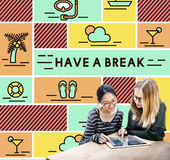 Break Cessation Leisure Pause Recess Relaxation Concept.  stock images