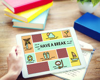 Break Cessation Leisure Pause Recess Relaxation Concept Royalty Free Stock Images