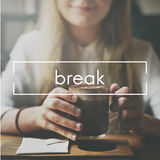 Break Cessation Pause Recess Relaxation Relief Concept Royalty Free Stock Photography