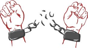 Break the chains Royalty Free Stock Photo