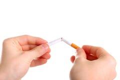 Break a cigarette Stock Photos
