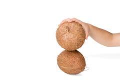 Break the coconut Stock Photos