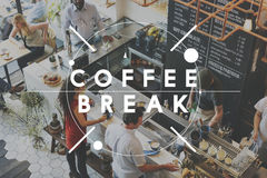 Break Coffee Cafe Cessation Pause Relax Rest Concept Royalty Free Stock Images