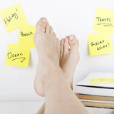 Break Concept / Dreaming About Holiday at Work Royalty Free Stock Image