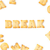Break cookie font alphabet. Royalty Free Stock Images