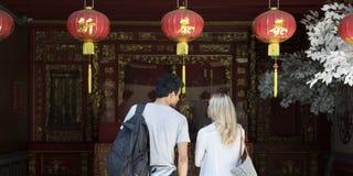 Break Couple Destination Explore Peace Summer Concept Royalty Free Stock Photography