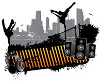 Break Dance Banner Royalty Free Stock Image