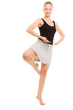 Break dance de l'adolescence de fille de danseuse de femme Images libres de droits