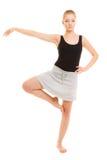 Break dance de l'adolescence de fille de danseuse de femme Photographie stock