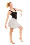Break dance de l'adolescence de fille de danseuse de femme Photo stock
