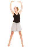 Break dance de l'adolescence de fille de danseuse de femme Image stock