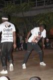 Break-dance del ballerino della via Fotografia Stock Libera da Diritti