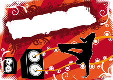 Break Dance Disco Party Flyer Royalty Free Stock Photo