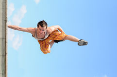 Break-dance In Sky Royalty Free Stock Images