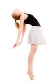 Break dance moderno del ballerino della donna di stile Fotografie Stock Libere da Diritti