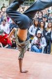Break Dance. Performance of break dance in Berlin with many onlookers during Myfest in Kreuzberg, Berlin, Germany Royalty Free Stock Images