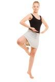 Break dance teenager della ragazza del ballerino della donna Immagini Stock Libere da Diritti