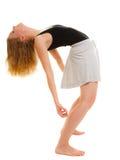 Break dance teenager della ragazza del ballerino della donna Fotografia Stock Libera da Diritti