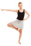 Break dance teenager della ragazza del ballerino della donna Fotografie Stock