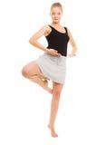 Break dance teenager della ragazza del ballerino della donna Immagini Stock