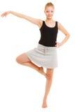 Break dance teenager della ragazza del ballerino della donna Fotografia Stock