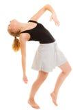 Break dance teenager della ragazza del ballerino della donna Fotografie Stock Libere da Diritti
