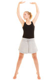 Break dance teenager della ragazza del ballerino della donna Immagine Stock