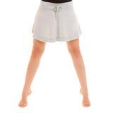 Break dance teenager delle gambe della ragazza del ballerino della donna Fotografie Stock