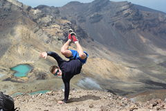 Break dance at Tongariro crossing Royalty Free Stock Photography