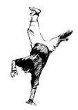 Break dancer Stock Photo