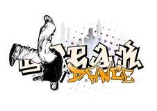 Break dancer 2 stock illustration