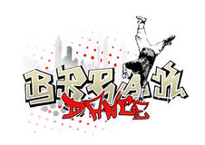 Break dancer background Royalty Free Stock Photos