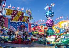 Break Dancer carousel at Oktoberfest in Munich, Germany, 2015 Stock Photo