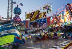Break Dancer carousel at Oktoberfest in Munich, Germany, 2015 Royalty Free Stock Photo