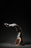 Break dancer in the dark Stock Photo