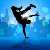 Break Dancer Indicates Street Dancing And Breakdancing Stock Image