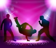 Break dancer performance Royalty Free Stock Image