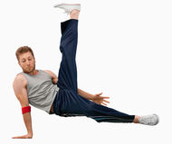 Break dancer performing a move Stock Photography