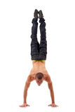 Break dancer showing his skills Royalty Free Stock Photography
