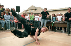 Break dancers in the street. Royalty Free Stock Photos