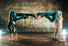 Break dancers team Stock Photo