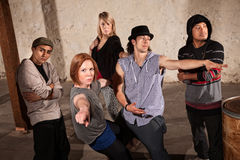 Break Dancing Group Stock Image