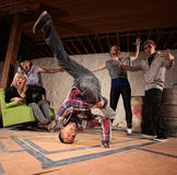 Break Dancing Headspin Stock Image