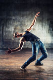 Break dancing man Royalty Free Stock Photo