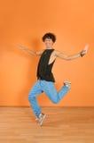 Break dancing performer Royalty Free Stock Photo
