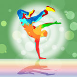 Break Dancing Represents Disco Music And Dance Royalty Free Stock Image